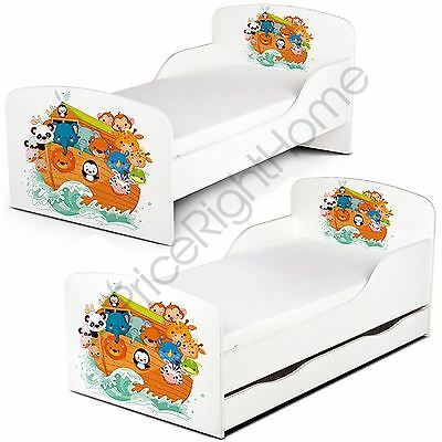 Pricerighthome Noah's Ark Toddler Bed With Or Without Storage + Mattress Options