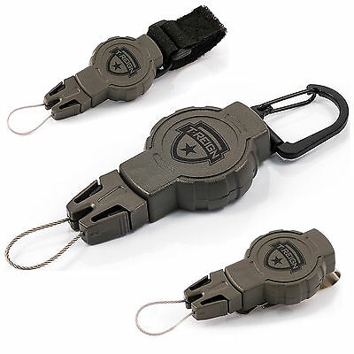 T-Reign Retractable Tactical Hiking Military Gear Kevlar Tether Lanyard Green