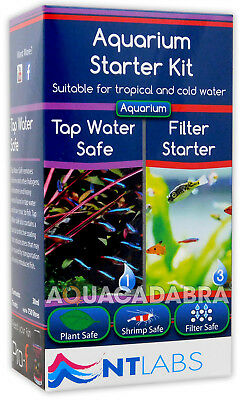 Nt Labs Aquarium Starter Kit Dechlorinator Tap Water Ammonia Filter Fish Tank