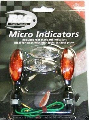 R&G RACING PAIR OF REAR MICRO INDICATORS 8mm thread  Yamaha XT660Z Tenere (2015)