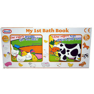 My First Baby Bath Book - Todler Baby Animals Farm Play & Learn New