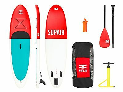 SUPAIR - Inflatable SUP board 215Ltr -max 245 lbs -30 PSI tested- with HQ Paddle