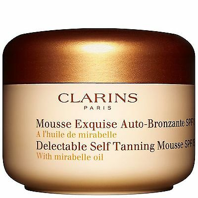 NEW Clarins Self Tanning Delectable Self Tanning Mousse 125ml FREE P&P