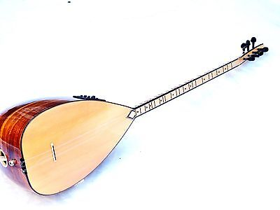 Burm :: Turkish  Acoustic Long Neck Walnut Saz Baglama With Equalizer  !!!!!!!!!