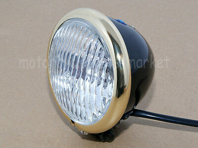 Motorcycle Vintage Old School Copper Retro Headlight For Harley Bobber Chopper