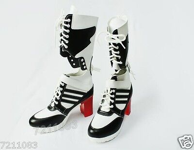 Harley Quinn DC Suicide Squad Cosplay Boots Shoes Heel Halloween Cosplay Costum