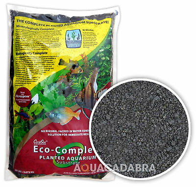 Caribsea Eco-Complete Planted Aquarium Substrate For Plants Calcium Fish Tank