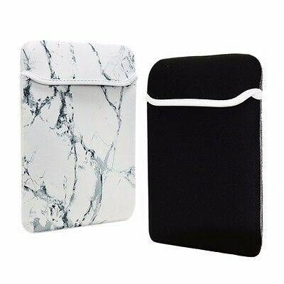 "13-Inch White Marble Reversible Sleeve Bag for 13"" Macbook /Air/Pro/ Chromebook"