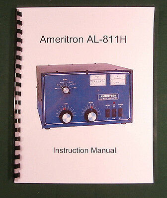 Ameritron AL-811H Instruction Manual - ring bound with protective covers!