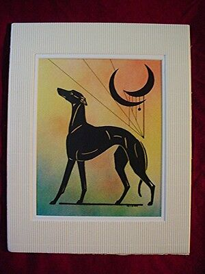 Print of Stylized multi medium Whippet Greyhound  #33 by Cindy A. Conter