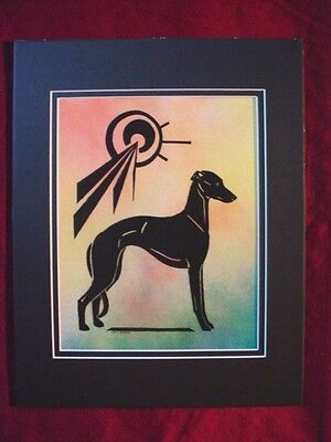 Print of Stylized multi medium Whippet Greyhound  #34 by Cindy A. Conter