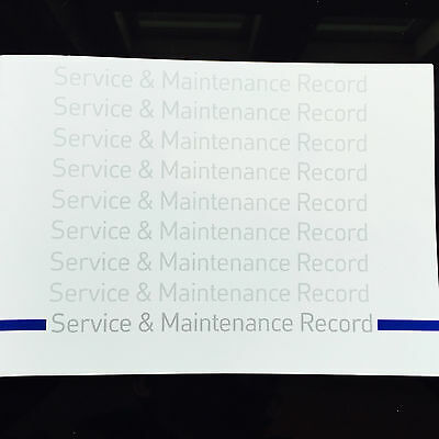 Ford Fiesta Van Service Book - History Maintenance Record Portfolio  New Blank