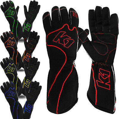 K1 - RS-1 Karting Gloves - Reverse Stitched Lightweight Kart Racing Gloves