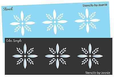 Joanie STENCIL Colonial Starburst Border Country Primitive Snowflake Holiday Art