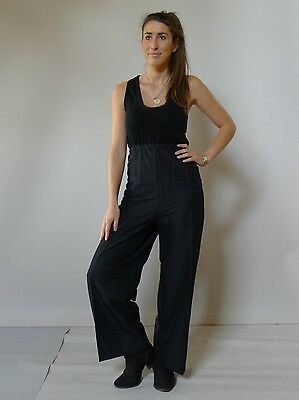 Vintage retro true 70s 18  2XL unused Plus Size flares pants black NOS