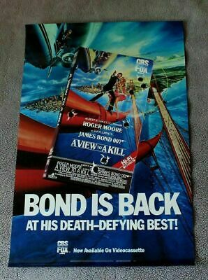 View to a Kill 1985 James Bond Roger Moore Albert Broccoli PROMO Movie Poster FN