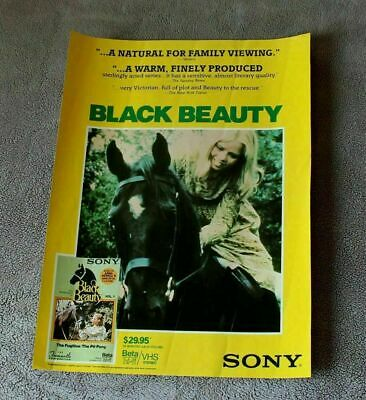 Black Beauty 1994 William Lucas Charlotte Mitchell Roderick TV Video Poster VG