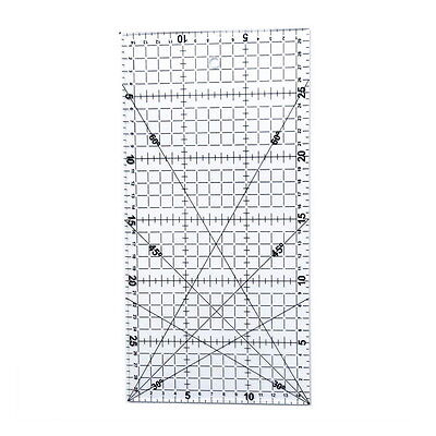 30*15cm Quilting Sewing Patchwork Foot Aligned Ruler Grid Tailor Craft Scale #AS