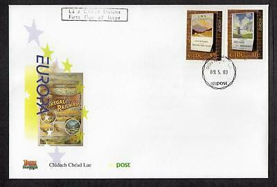 Ireland 2003 EUROPA Stamps - Poster Art FDC