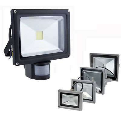 IP65 LED Floodlight 10/20/30/50/100W PIR Motion Security Flood Light Warm Cool
