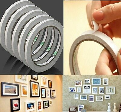 10 rolls  of 6mm Double Sided Super Strong Adhesive Tape for DIY Craft Brand 9M
