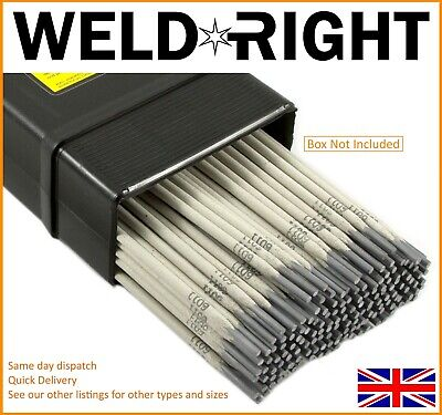 Weldright ER316L Stainless Steel Arc Welding Electrodes Rods 2.4mm x 10 Rods