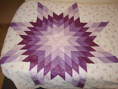 LAVENDER BERRY JAM STAR QUILT TOP - NOT SQD, Made in USA, Machine Pieced