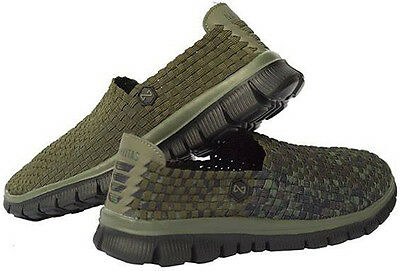 Navitas Lite Weaves Slip On Shoes / Bivvy Slippers, Camo Or Green - All Sizes
