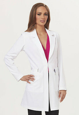 """Dickies Sapphire Women's """"Milan"""" 34"""" Lab Coat in White SA400A FREE SHIPPING"""