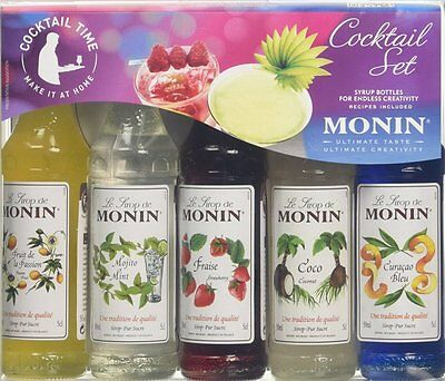Monin Miniature Cocktail Mint Mojito Passion Fruit Flavouring Syrups Gift Boxed
