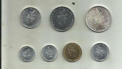 Vatican Set 7 Coins 1975. With Silver. Unc Condition. 4Rw 06Set