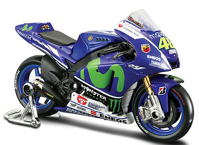 YAMAHA MOTO GP #46 VALENTINO ROSSI 1:18 Metal Models Cars Die Cast Movistar