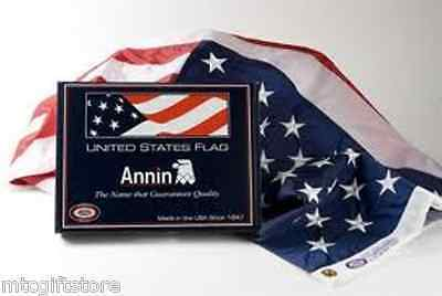 ANNIN® Made in the USA Nyl-Glo® 3' x 5' Colorfast American Flag # 02460