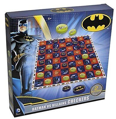 CHECKERS Batman VS Villains 2 Player Family Board Game