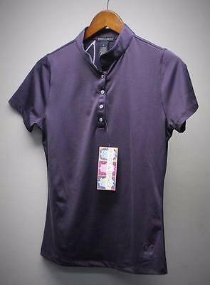 New Ladies Birdy & Grace MEDIUM Purple eclipse golf polo shirt poly/spandex