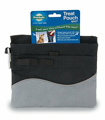 PetSafe Dog Treat Pouch Food Toys Storage Pocket Detachable and Adjustable Black