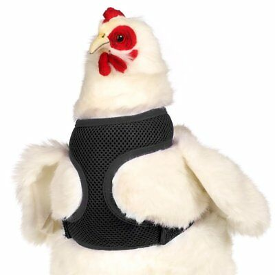 Valhoma Chicken Harness Adjustable Durable Breathable Hen Size Black 13'-17""