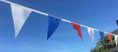 8 ft Red White and Blue Fabric Pennant Bunting Lockdown lift party