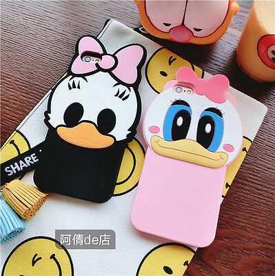 Cute Silicone Cartoon 3D Daisy Donald Duck Phone Case For iPhone 5 6S 7 8 Plus