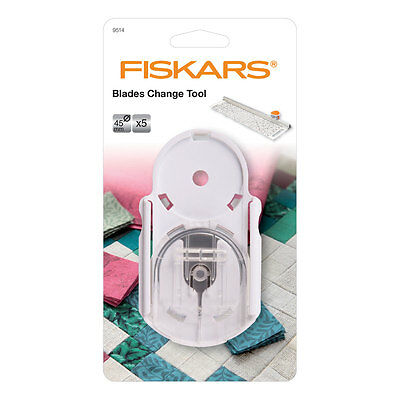 Fiskars F9514 Rotary Cutter Blade Change Tool | 5 Blade Storage for 45mm Blades