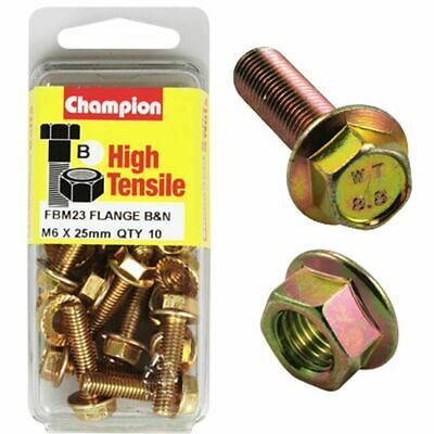 Champion Flange Bolts - M6x25, High Tensile