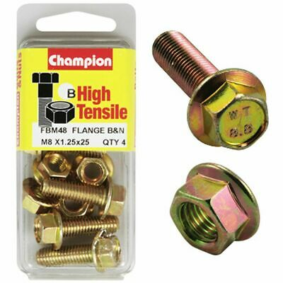 Champion Flange Bolts - M8x25, High Tensile