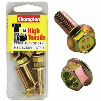 Champion Flange Bolts - M8x30, High Tensile