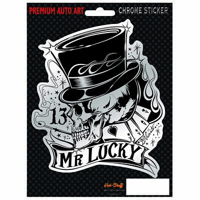 Hot Stuff Sticker - Mr Lucky, Chrome