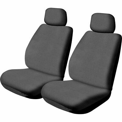 SCA Canvas Seat Covers - Charcoal, Adjustable Headrests, Size 30, Front Pair,...