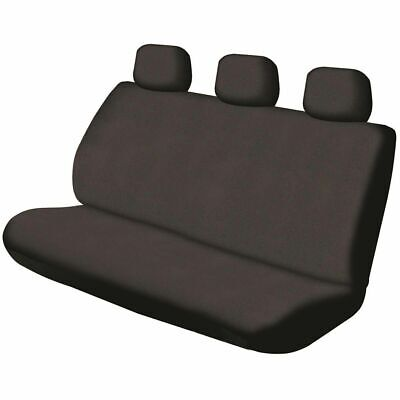 SCA Canvas Seat Cover - Black, Adjustable Headrests, Rear Seat