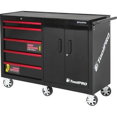 "Toolpro Tool Cabinet - 52"", 5 Drawer, Roller"