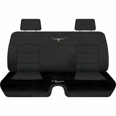 R.M.Williams Woven Ute Seat Cover - Black, Size 202, Front Bench (with cut out)