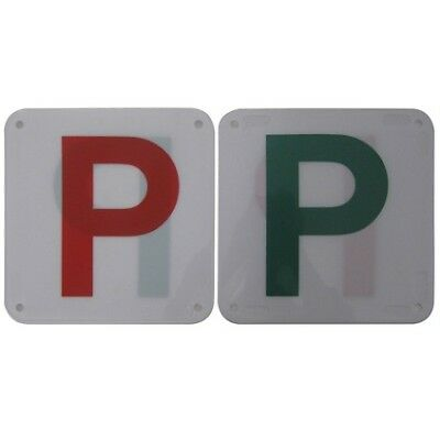P Plate - Plastic, Red & Green, 2 Pack