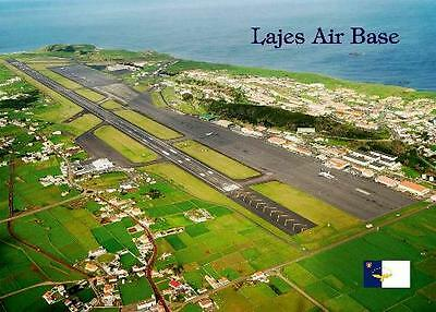 Azores Lajes Air Base Aerial View New Postard